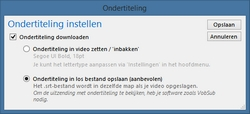 GemistDownloader-ondertitelingsinstellingen
